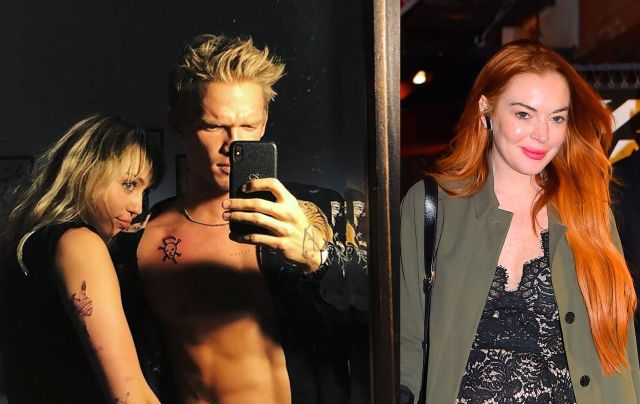Lindsay Lohan Sends Dard To The Relationship Of Miley Cyrus Cody Simpson