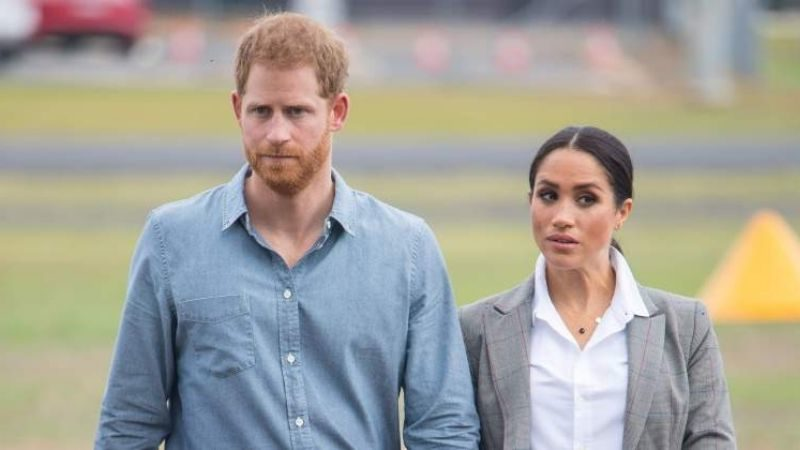 Meghan Markle and Prince Harry Show Solidarity in Matching Spring-Green Outfits