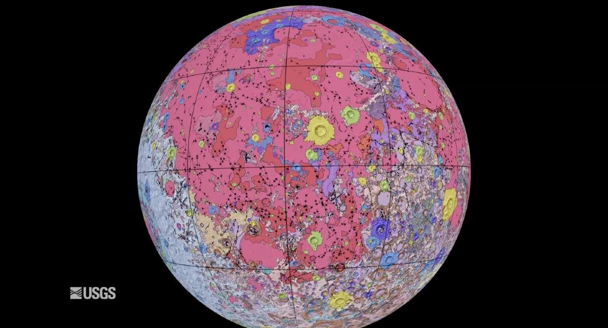 NASA, USGS release detailed geological map of the moon