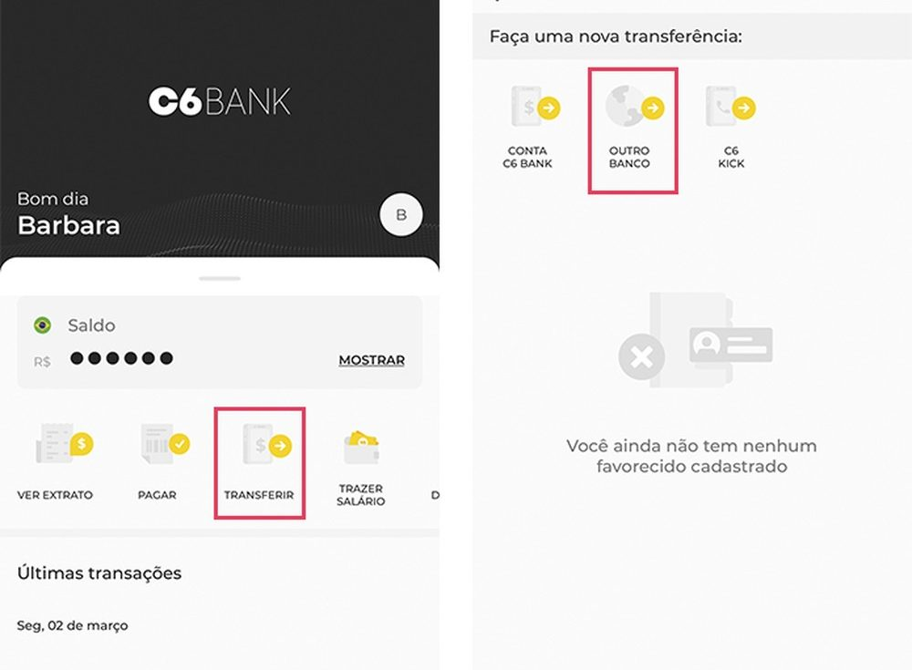 C6 Bank How To Transfer Money