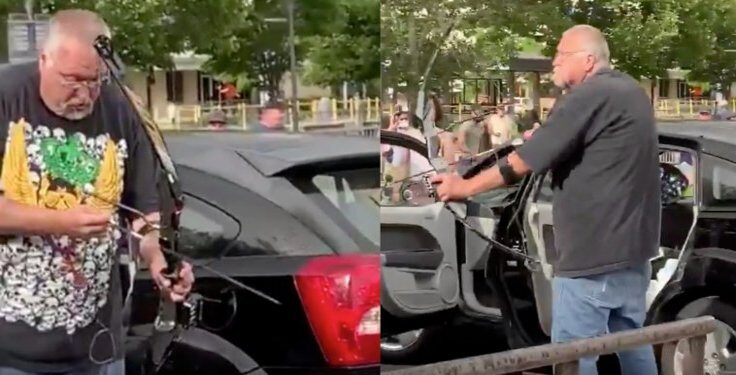 Salt Lake City Man Threatens Protesters With Compound Bow