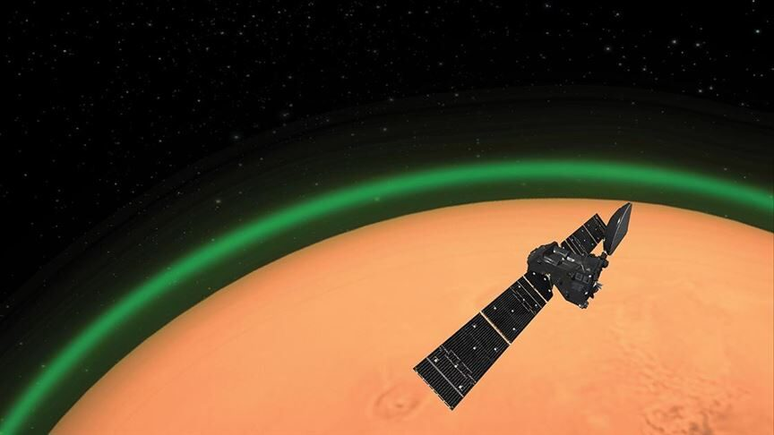 Beautiful Green Glow Spotted Within Mars' Atmosphere
