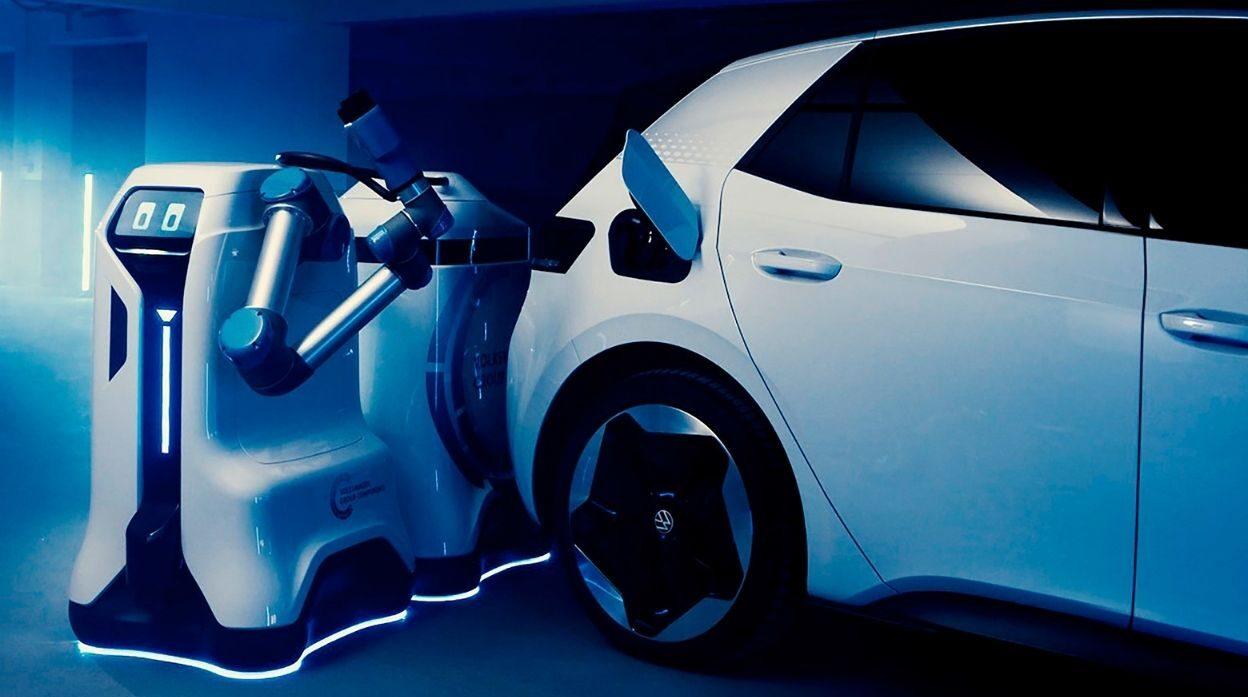 Beep Boop: VW Previews Mobile EV Charging Robot Prototype