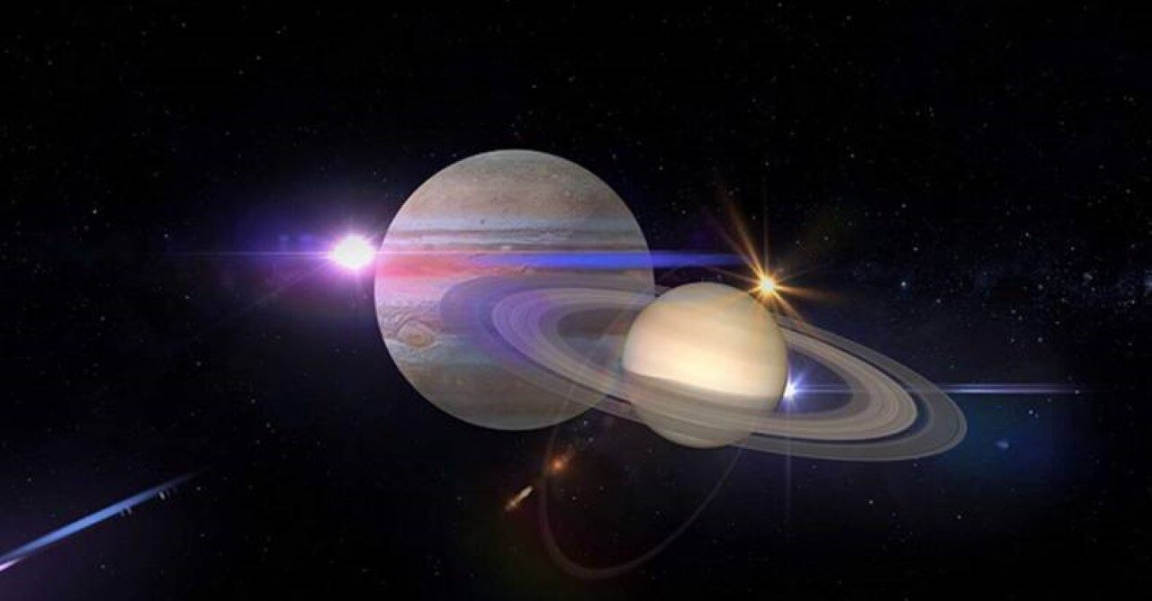 Jupiter and Saturn align in 'Christmas star' effect