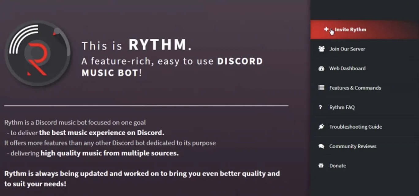 Pressure from YouTube to Discord music bot Rythm - Somag News
